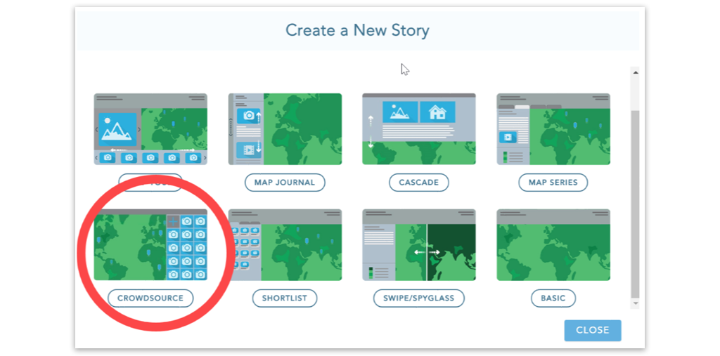 Crerate a new story map