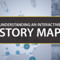 Understanding an interactive story map - header